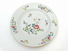 An 18th /19thC Chinese plate having butterfly and