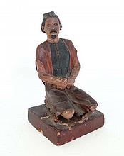 A c.1900 Indian terracotta hand sculpted and