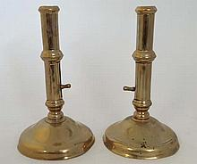 A pair of late 18thC spun brass ejector