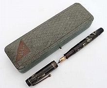 Fountain Ink Pen : A Parker Duofold in green