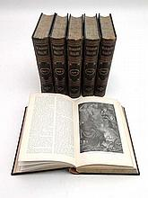 Books : Six leather bound editions of ' The