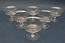 A set of 6 1950's pedestal sundae / dessert dishes