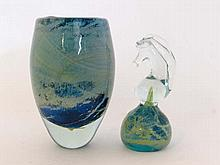 Mdina - Art Glass - an ovoid glass vase 6