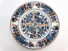 A mid 19thC Wedgwood plate decorated in Ningpo