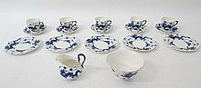 Blue Dragon ceramics : a NPC co 6 place tea set