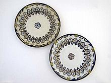 A pair of c1860 William Brownfield plates