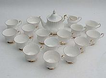 A Royal Albert part tea set , Val d'Or pattern ,