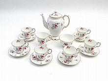 A six place Crown Staffordshire tea set ,