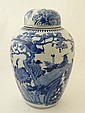 A Chinese blue and white porcelain ginger jar and