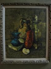 Oil on Canvas, Tabletop still-life