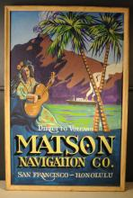 Vintage Hand Painted Hawaiian Travel Sign