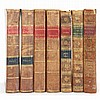 [BINDINGS] Group of approximately twenty-three leather bound volumes. Comprising mostly American imprints of literature titl...