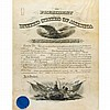 TAFT, WILLIAM HOWARD Document signed. Washington: 19 May 1911. Partially printed document on vellum accomplished in manuscri...