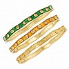 Three Gold and Enamel Bangle Bracelets, Van Cleef & Arpels