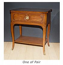 Pair of French Provincial Style Fruitwood Side Tables