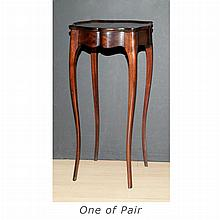 Pair of French Provincial Style Mahogany Side Tables