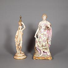 Royal Worcester Porcelain Figure of a Woman; Together with a Porcelain Figure