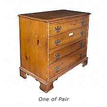 Pair of Georgian Style Pine Chests of Drawers