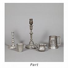 Group of Pewter Table Articles