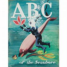 CHILDREN'S BOOK-MAQUETTE BROWN, HARRY. ABC of the Seashore. Original maquette or mock-up for a children's book, saddle-stitc...