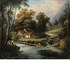 Manner of Louis Etienne Watelet 19th Century Landscape with River: Two