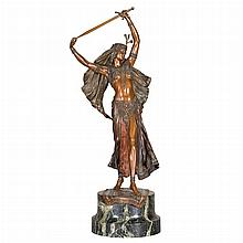 Austrian Cold Painted Bronze Figure of Judith
