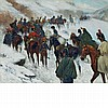 Jan Van Chelminski Polish, 1851-1925 Napoleon Passing through the Guadarrama Mountains, 1808   Signed Jan V. Ch...