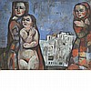 Bela Kadar Hungarian, 1877-1956 Untitled   Signed Kadar/Bela (lr) Tempera on paper laid down on board 32...