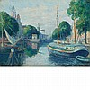 Maximilien Luce French, 1858-1941 Peniches sur le canal a Rotterdam Signed Luce (lr); inscribed as titled on...