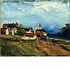 Maurice de Vlaminck French, 1876-1958 Paysage Avec Eglise   Signed Vlaminck (ll) Oil on canvas 13 1/8 x...
