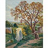 Maximilien Luce French, 1858-1941 Rolleboise, Le Sentier de l'Eglise   Signed Luce (lr) Oil on canvas 31...