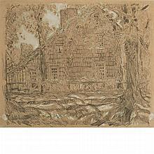 Childe Hassam American, 1859-1935 Home Sweet Home Cottage #1, Easthampton, Long Island (John Howard Payne House), 1921
