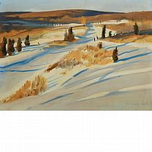 Fairfield Porter American, 1907-1975 Early Snow, 1969