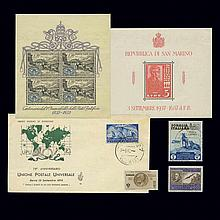 Italy San Marino and Vatican Stamp Group