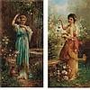 Hans Zatzka Austrian, 1859-1945 Fluttering Butterflies and Return from the Well: Two