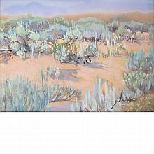 Gordon E. Snidow American, b. 1936 (i) Desert Shrubs (ii) Looking East Above Cooney