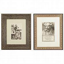 Albrecht Durer THE NATIVITY; FREDERICK THE WISE, ELECTOR OF SAXONY Two heliogravures