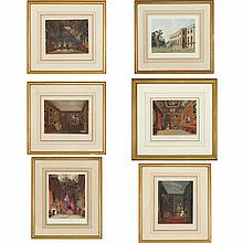Various Artists ROYAL RESIDENCES Four hand-colored aquatints
