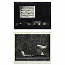Mario Avati PIPE ET COUPELLE; BALLADE ET VIOLIN Two mezzotints