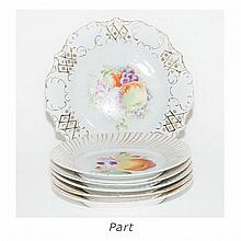 Group of Porcelain Fruit Plates
