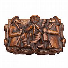 Provincial Carved Wood Box