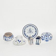 Group of Dutch Pottery and Porcelain Articles