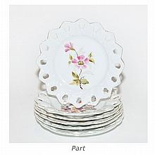Group of Porcelain Dessert Plates