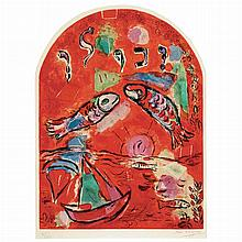 After Marc Chagall THE TRIBE OF ZABULON Color lithograph