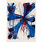 Sam Francis DAMN BRACES Color lithograph