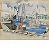 Andre Lhote French, 1885-1962 Ship in Port, circa 1917, Andre Lhote, $1,500