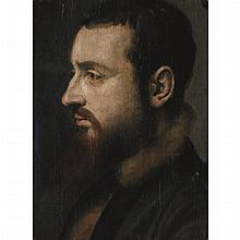 North Italian School 16th/17th Century Portrait of a Gentleman in a Fur Lined Cloak