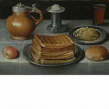 Dutch School 17th Century Still Life with Waffles