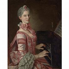 Peter Anton Lorenzoni Austrian, circa 1721-1782 Portrait of Marianna Martines at the Keyboard