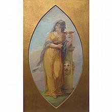 English School 19th Century Allegorical Figure
